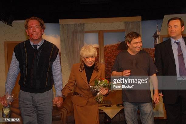 Ralph HB Eckstein Ingrid Steeger Michael Oenicke Oliver Pulch Premiere Theaterstück 'Jackpot' 'Theaterschiff' Bremen Deutschland Europa Auftritt...
