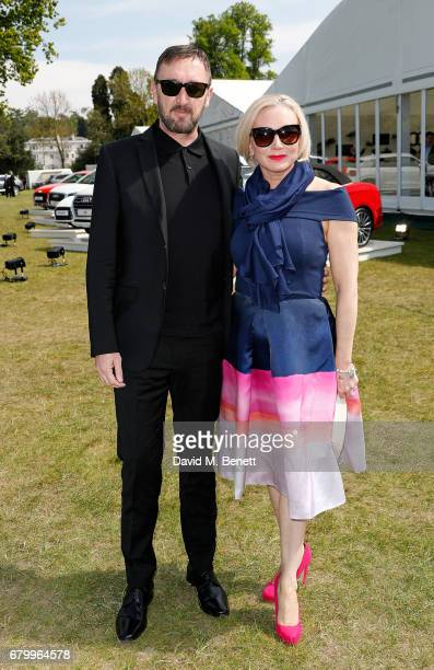 Ralph Ineson and Ali Ineson attend the Audi Polo Challenge at Coworth Park on May 7 2017 in Ascot United Kingdom