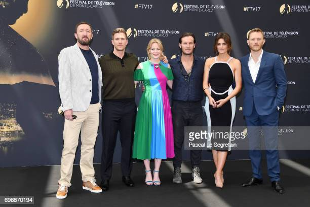Ralph InesonPatrick HeusingerCara TheoboldAngel BonanniStana Katic and Neil Jackson from 'Absentia' attend a photocall during the 57th Monte Carlo TV...