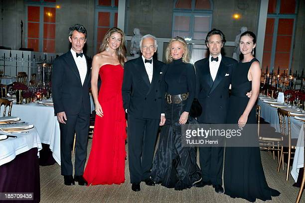Ralph Lauren and family Ricky Lauren Dylan Lauren Andrew Lauren David Lauren Lauren Lauren attend the Ralph Lauren evening on October 8 2013 at the...