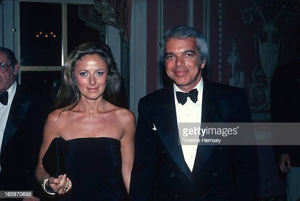 Ralph Lauren and his wife Ricky Lauren pose for a photograph at Night of 100 Stars event March 8 1982 in New York City