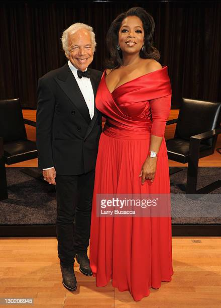 Ralph Lauren and Oprah Winfrey attend an evening with Ralph Lauren hosted by Oprah Winfrey and presented at Lincoln Center on October 24 2011 in New...