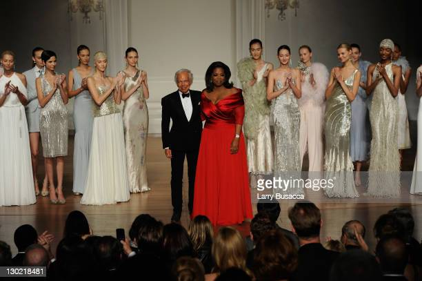 Ralph Lauren and Oprah Winfrey attend an evening with Ralph Lauren hosted by Oprah Winfrey and presented at Lincoln Center on October 24, 2011 in New...