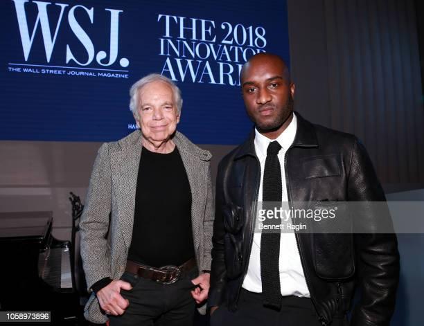 Ralph Lauren and Virgil Abloh attend WSJ Magazine 2018 Innovator Awards Sponsored By Harry Winston, FlexJet & Barneys New York at MOMA on November 7,...