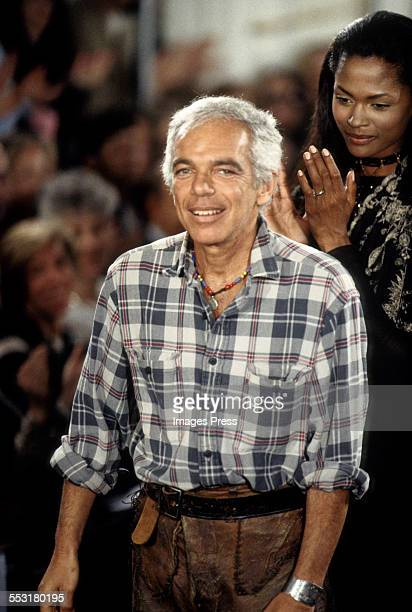 Ralph Lauren at the Ralph Lauren Fall 1993 show circa 1993 in New York City.