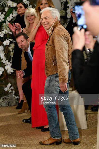 Ralph Lauren attends the Ralph Lauren collection during New York Fashion Week on February 15 2017 in New York City
