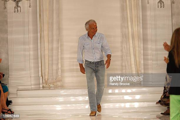 Ralph Lauren attends the Ralph Lauren New York 2012 fashion show during Mercedes-Benz Fashion Week Spring 2012 at Skylight Studio on September 15,...