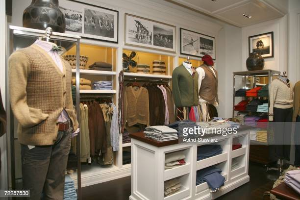 Ralph Lauren Clothes are on display before the the opening of The Ralph Lauren Men's Shop at Saks Fifth Avenue October 24, 2006 in New York City.