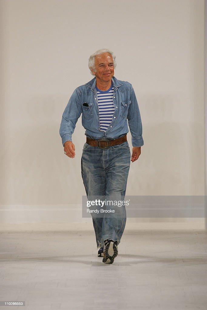 Ralph Lauren, designer during Olympus Fashion Week Spring 2006 - Ralph Lauren - Runway at The Annex in New York City, New York, United States.