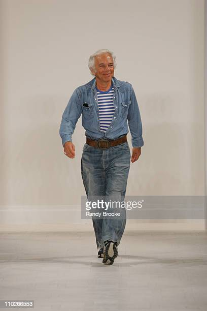 Ralph Lauren, designer during Olympus Fashion Week Spring 2006 - Ralph Lauren - Runway at The Annex in New York City, New York, United States.