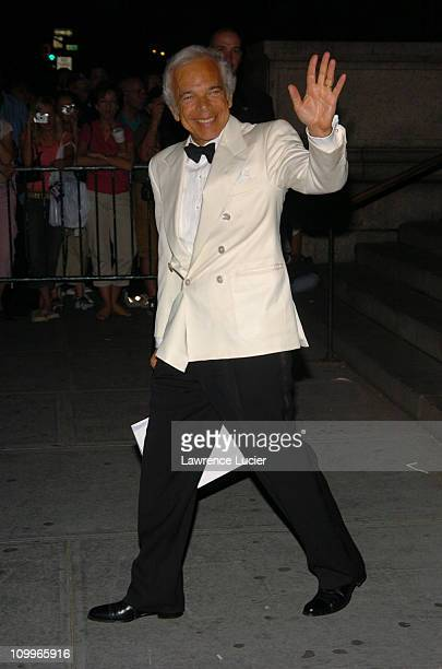 Ralph Lauren during 2004 CFDA Fashion Awards Exits at New York Public Library in New York City New York United States
