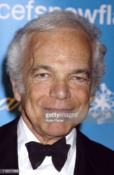 Ralph Lauren during 2nd Annual UNICEF Snowflake Ball Arrivals at The Waldorf Astoria Hotel in New York City New York United States
