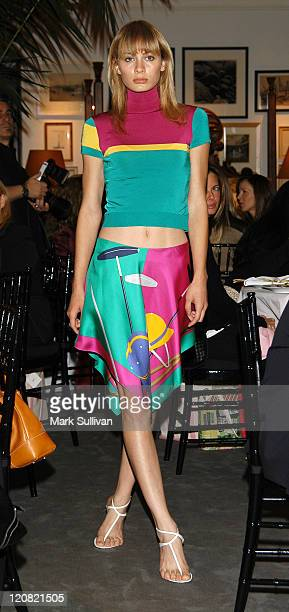 Ralph Lauren Model during Luncheon at Ralph Lauren Rodeo Drive Store in Support of The Women's Cancer Research Fund The Pink Pony Fund at Ralph...