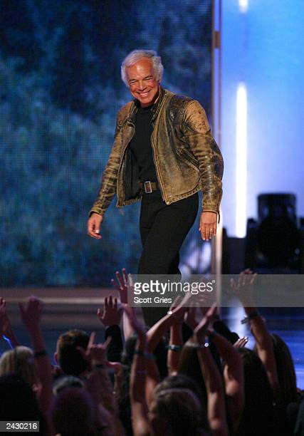 Ralph Lauren onstage at the 2002 VH1 Vogue Fashion Awards at Radio City Music Hall in New York City, 10/15/02. Photo by Scott Gries/Getty Images.