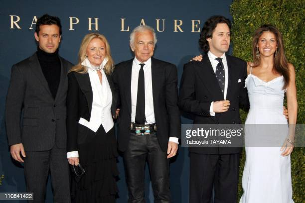 Ralph Lauren Opens World'S Largest Flagship Store In Tokyo, Japan On March 29, 2006 - Fashion designer Ralph Lauren and his wife Ricky wave to...