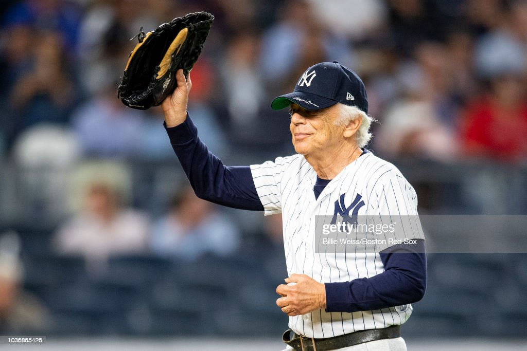 a70c4177 Ralph Lauren reacts after throwing out a ceremonial first pitch ...