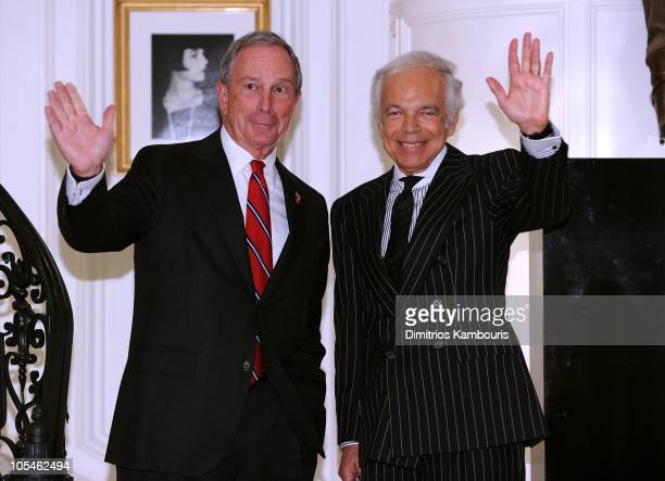 Ralph Lauren Receives Key to the City of New York from Mayor Michael Bloomberg at Ralph Lauren Women's Store at 888 Madison Avenue on October 14 2010...