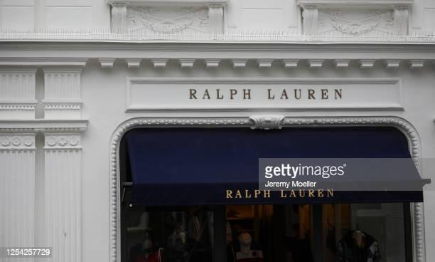 Ralph Lauren sign store is seen on July 03, 2020 in Hamburg, Germany.