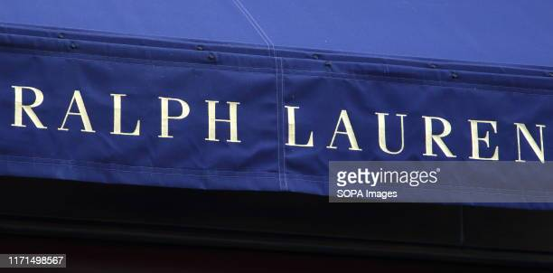 Ralph Lauren store in the Luxury Fashion and Jewellery shopping area on London's New Bond Street.