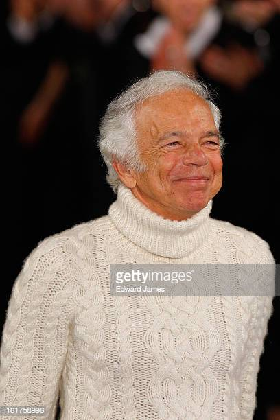 Ralph Lauren walks the runway at Ralph Lauren during Fall 2013 Mercedes-Benz Fashion Week at St. John's Center Studios on February 14, 2013 in New...