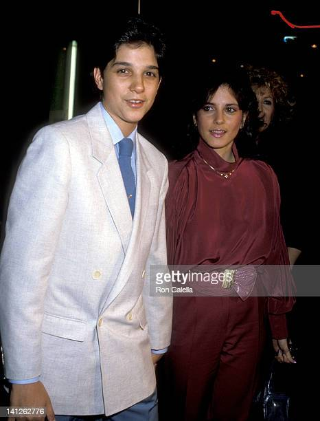 Ralph Macchio and Phyllis Fierro at the Premiere of 'Crossroads' Mann's Chinese Theatre Hollywood