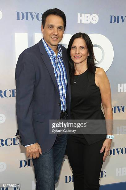 Ralph Macchio and Phyllis Fierro attend HBO Presents the New York Red Carpet Premiere of Divorce at SVA Theater on October 4 2016 in New York City