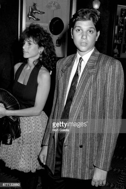 Ralph Macchio and wife Phyllis Fierro attend Great Balls of Fire Premiere on June 26 1989 at the Ziegfeld Theater in New York City