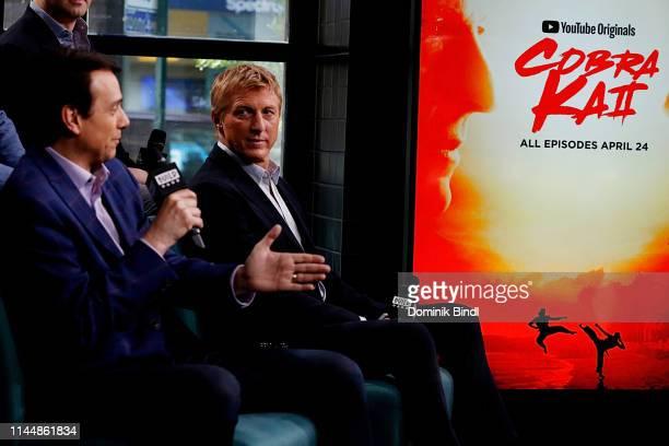 Ralph Macchio and William Zabka attend the Build Series to discuss 'Cobra Kai' at Build Studio on April 24, 2019 in New York City.