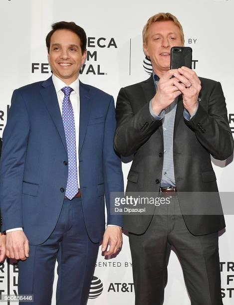 "Ralph Macchio and William Zabka attend the screening of ""Cobra Kai"" during the 2018 Tribeca Film Festival at SVA Theatre on April 24, 2018 in New..."