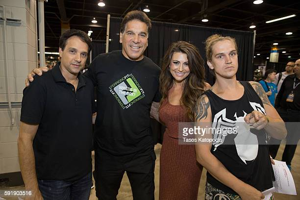 Ralph Macchio Lou Ferringo Cerina Vincent and Jason Mewes at Wizard World Chicago Heroes Honoring Heroes Event on August 18 2016 in Rosemont Illinois