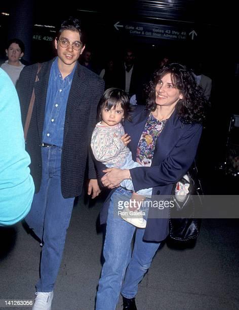 Ralph Macchio Phyllis Fierro and daughter Julia Macchio at the Ralph Macchio Phyllis Fierro and daughter Julia Macchio at Los Angeles International...