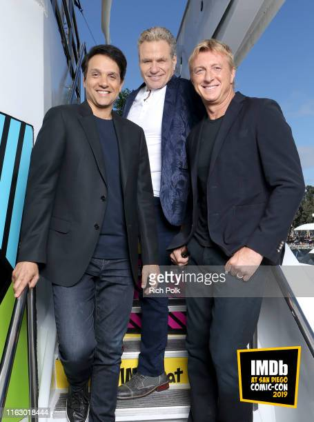 Ralph Macchio, William Zabka and Martin Kove attend the #IMDboat at San Diego Comic-Con 2019: Day Two at the IMDb Yacht on July 19, 2019 in San...