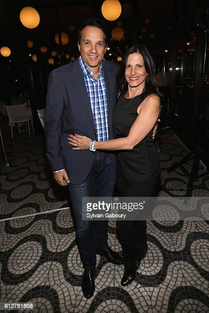 Ralph Maccio and Phyllis Fierro attend HBO Presents the New York Red Carpet Premiere of Divorce After Party at La Sirena on October 4 2016 in New...