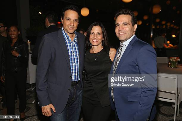Ralph Maccio Phyllis Fierro and Mario Cantone attend HBO Presents the New York Red Carpet Premiere of Divorce After Party at La Sirena on October 4...