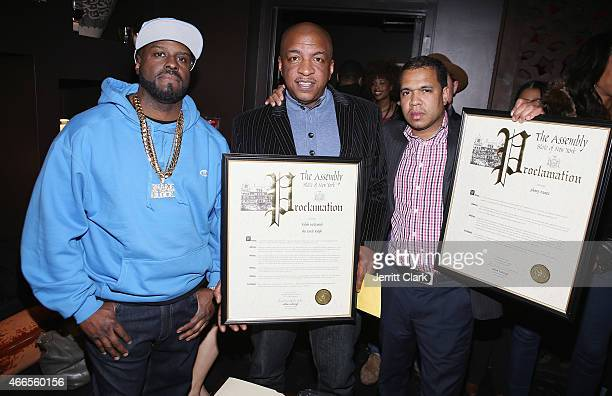 Ralph McDaniels Funkmaster Flex and Johnny Nunez receive Proclaimations recognizing their contributions to the music industry during the Inspired In...