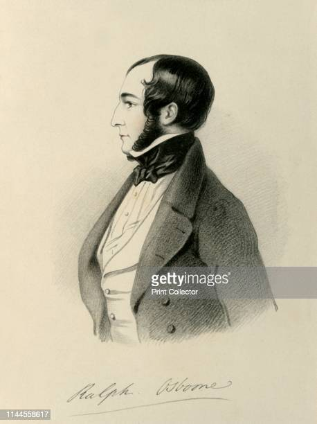 """Ralph Osborne', 1846. Portrait of British Liberal politician Ralph Bernal Osborne . From """"Portraits by Count D'Orsay"""", an album assembled by Lady..."""