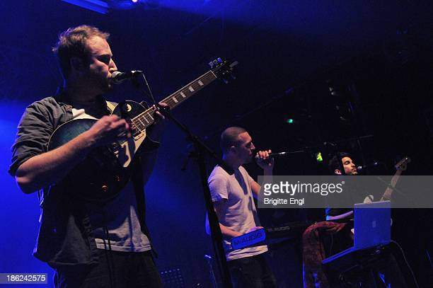 Ralph Pelleymounter, Ben Jackson and Josh Platman of To Kill a King performs on stage at KOKO on October 29, 2013 in London, England.