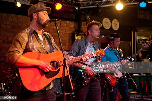 Ralph Pellymounter, Ian Dudfield and Josh Platman of To Kill A King perform on stage during Dot To Dot Festival in The Basement at Rock City on May...