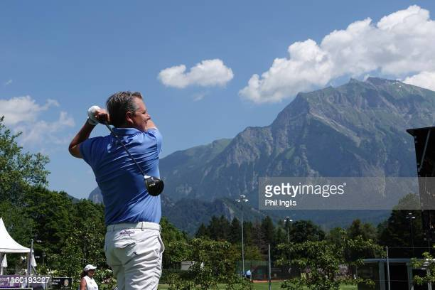 Ralph Polligkeit Director of Golf, Golf Club Bad Ragaz, in action during the first round of the Swiss Seniors Open played at Golf Club Bad Ragaz on...