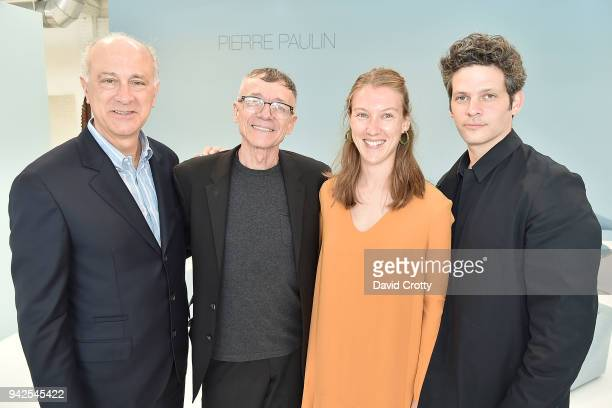 Ralph Pucci Ed Schilling Alice Lemoine and Benjamin Paulin attend Ralph Pucci Presents Pierre Paulin and James HD Brown on April 5 2018 in Los...