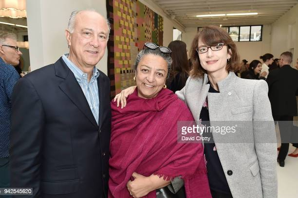 Ralph Pucci Yassi Mazandi and Honor Fraser attend Ralph Pucci Presents Pierre Paulin and James HD Brown on April 5 2018 in Los Angeles California