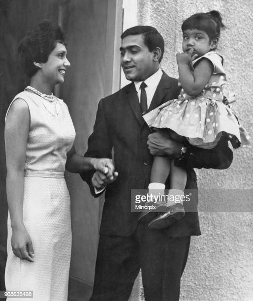 PC Ralph Ramadhar 27th June 1968 West Indian born PC Ralph Ramadhar Birmingham's first non caucasian policeman pictured at home with family wife Nell...