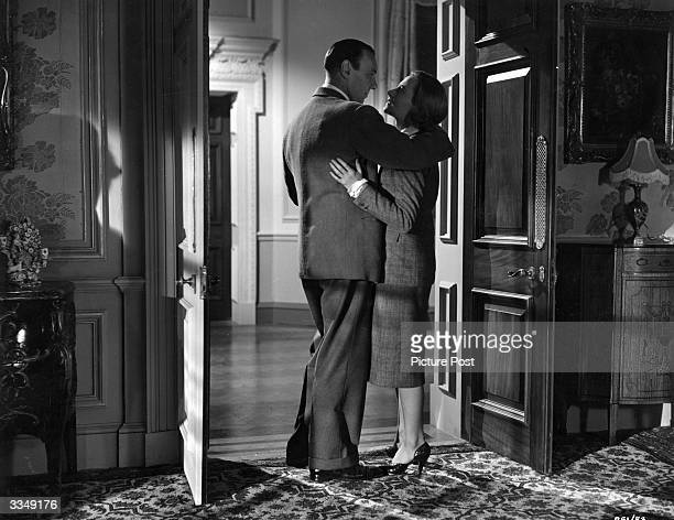 Ralph Richardson stars with Michele Morgan in the film 'The Fallen Idol' produced and directed by Carol Reed at London Film Studios Shepperton Based...