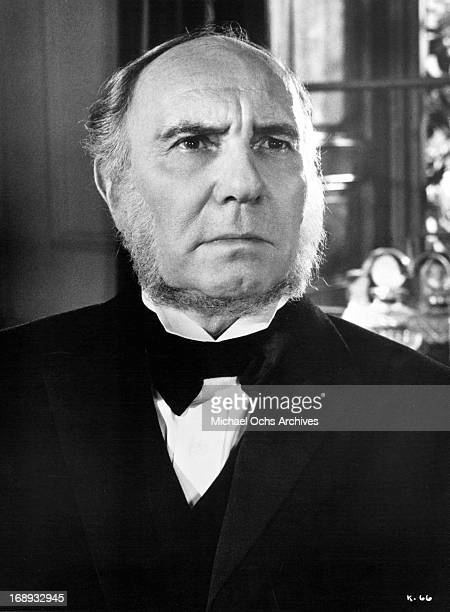 Ralph Richardson wearing a beard that outlines his face in a scene from the film 'Khartoum' 1966