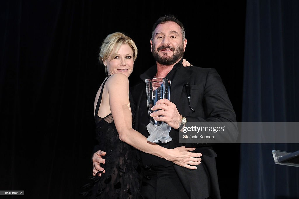 Ralph Rucci and Julie Bowen attend An Evening Benefiting The L.A. Gay & Lesbian Center Honoring Amy Pascal and Ralph Rucci on March 21, 2013 in Beverly Hills, California.