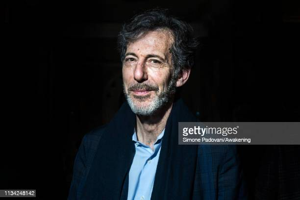 Ralph Rugoff curator of the 58th Venice Biennale Art poses for a portrait at the press conference at Ca' Giustinian on March 07 2019 in Venice Italy...