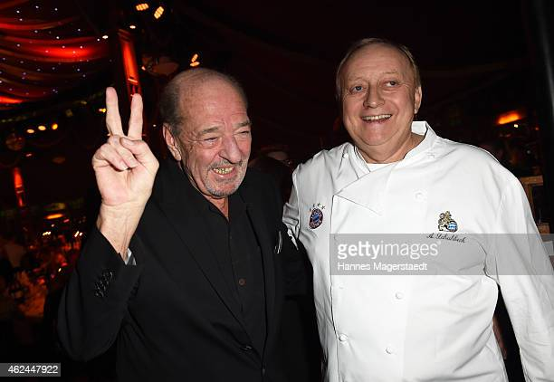 Ralph Siegel and Alfons Schuhbeck attend 'Radio Gong 963 Celebrates 30th Anniversary' at Schuhbecks Teatro on January 28 2015 in Munich Germany