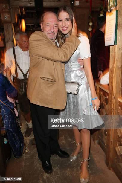 Ralph Siegel and his daughter Alana Siegel celebrate Ralph Siegel's birthday during the Oktoberfest 2018 at Kaeferschaenke tent Theresienwiese on...