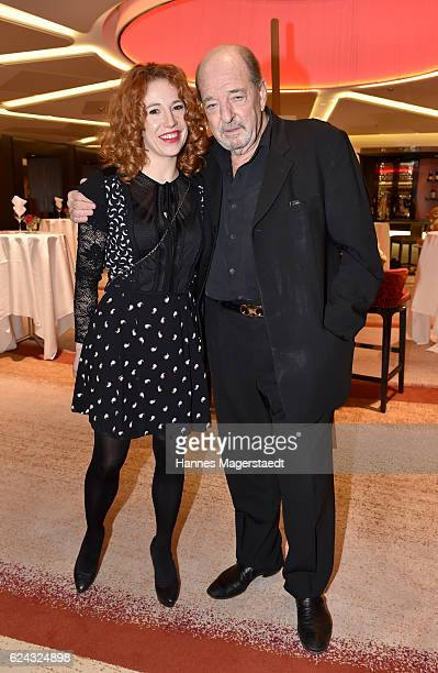 Ralph Siegel and his girlfriend Laura Kaefer during the charity dinner hosted by the Leon Heart Foundation at Hotel Vier Jahreszeiten on November 18...
