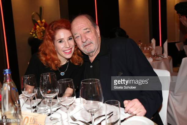 Ralph Siegel and his girlfriend Laura Kaefer during the Lambertz Monday Night pre dinner at Hotel Marriott on January 28 2018 in Cologne Germany